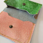 表面加工の本革で作る笹マチの名刺入れの作り方