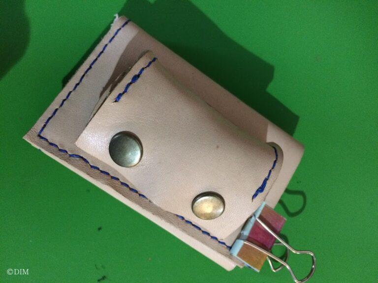 本革の三つ折りミニ財布の作り方