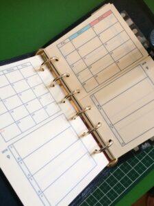 差し替えが可能なセパレート手帳づくり1