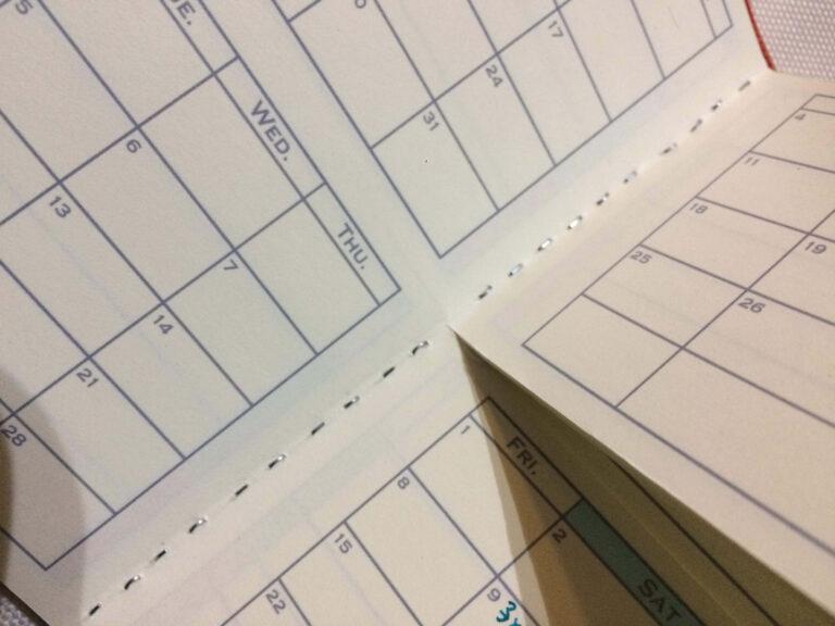 差し替えが可能なセパレート手帳づくり2