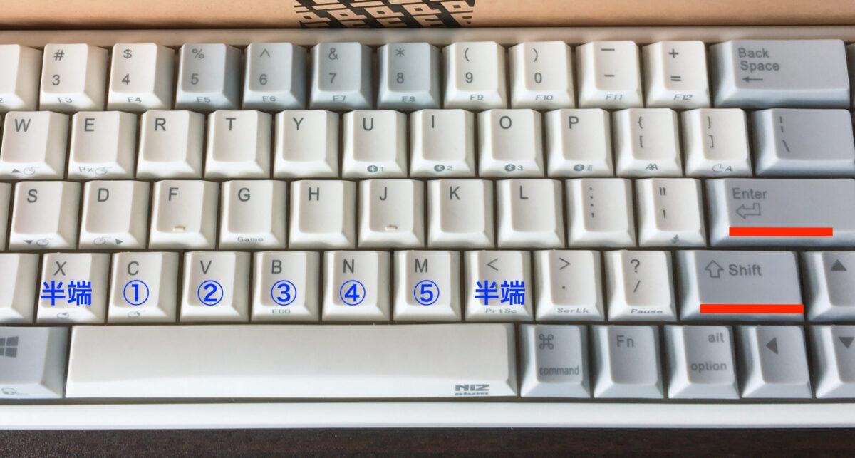 plum68キーキャップの特徴